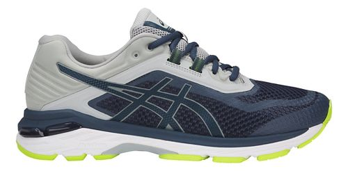 Mens ASICS GT-2000 6 Running Shoe - Dark Blue/Grey 7.5