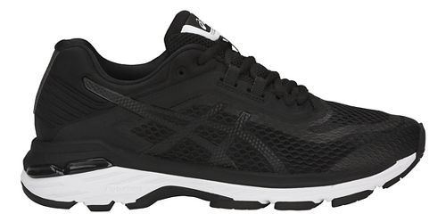 Womens ASICS GT-2000 6 Running Shoe - Black/White 10