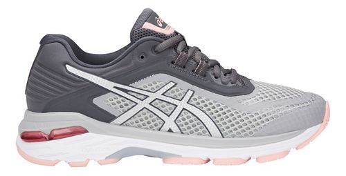 Womens ASICS GT-2000 6 Running Shoe - Grey/Silver 8
