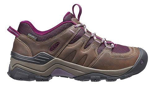 Womens Keen Gypsum II WP Hiking Shoe - Brindle/Purple 10.5