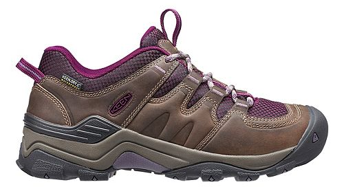 Womens Keen Gypsum II WP Hiking Shoe - Brindle/Purple 8.5