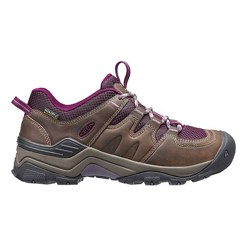 Womens Keen Gypsum II WP Hiking Shoe - Brindle/Purple 6.5