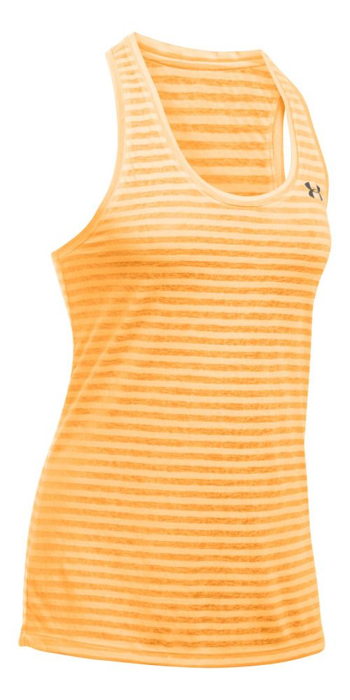 Womens Under Armour Threadborne Train Sleeveless & Tank Tops Technical Tops - Orange ...