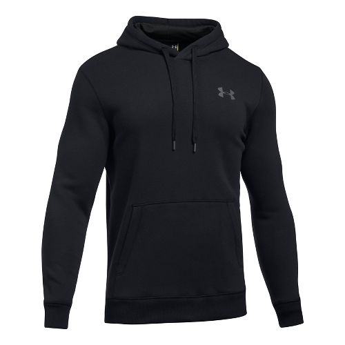 Mens Under Armour Rival Fitted Pullover Half-Zips & Hoodies Technical Tops - Black 3XL