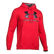 Mens Under Armour Rival Fitted Graphic Half-Zips & Hoodies Technical Tops