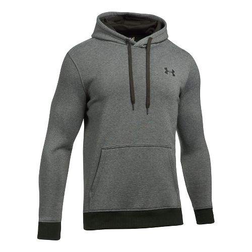 Mens Under Armour Rival EOE Fitted Pullover Half-Zips & Hoodies Technical Tops - Artillery ...