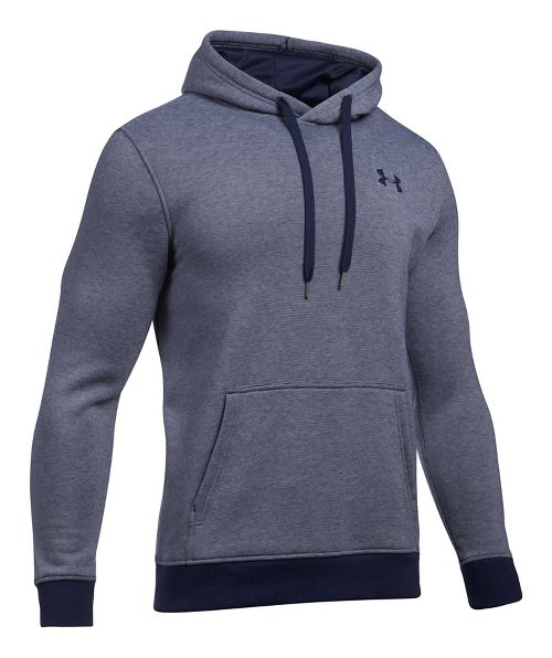 Mens Under Armour Rival EOE Fitted Pullover Half-Zips & Hoodies Technical Tops - Midnight Navy XL