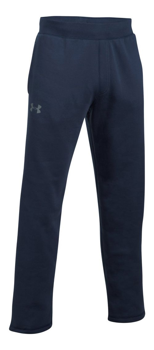 Mens Under Armour Rival Fitted Pants - Midnight Navy M