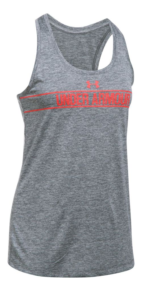 Womens Under Armour Tech Twist Sleeveless & Tank Tops Technical Tops - Rhino Grey S