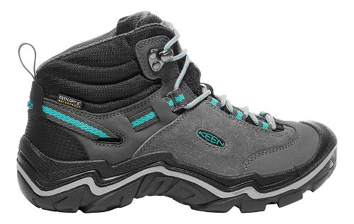 Womens Keen Laurel Mid WP Hiking Shoe - Steel Grey/Baltic 9.5