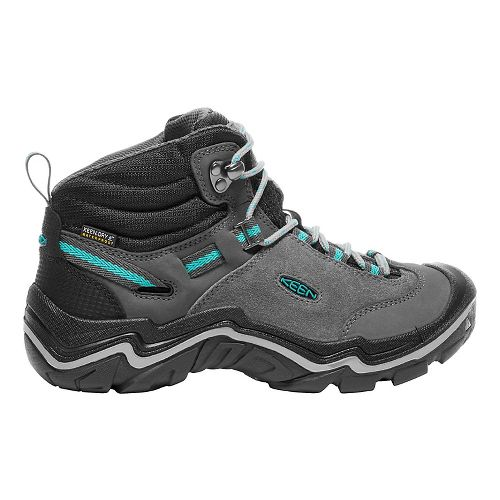 Womens Keen Laurel Mid WP Hiking Shoe - Steel Grey/Baltic 6.5