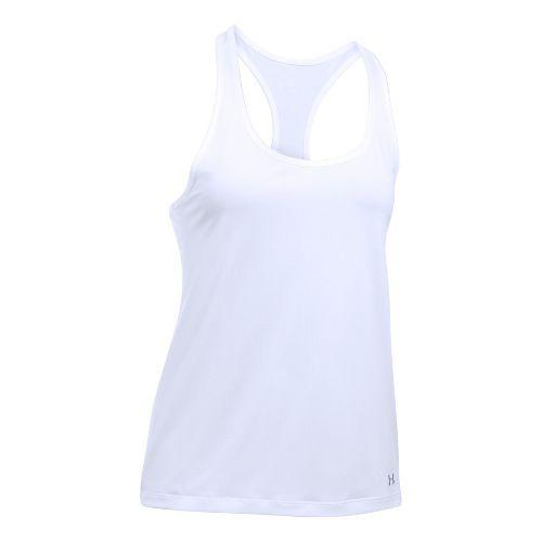 Womens Under Armour Break of Dawn Racer Sleeveless & Tank Tops Technical Tops - White XL