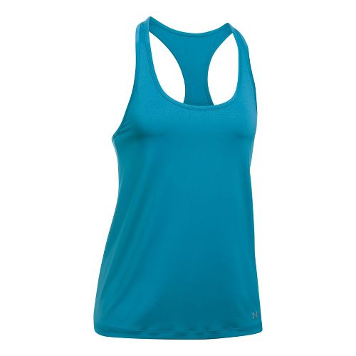 Womens Under Armour Break of Dawn Racer Sleeveless & Tank Tops Technical Tops - Bayou Blue L