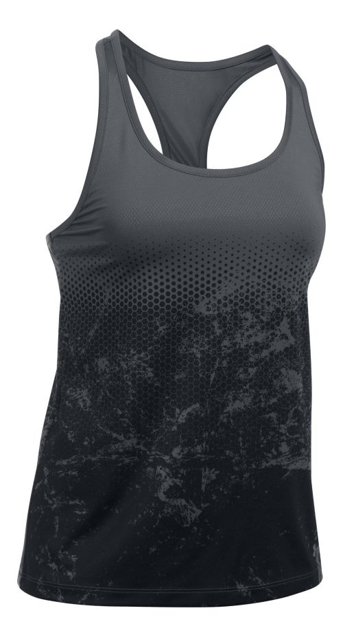 Womens Under Armour Hex Delta Racer Sleeveless & Tank Tops Technical Tops - Rhino Grey S