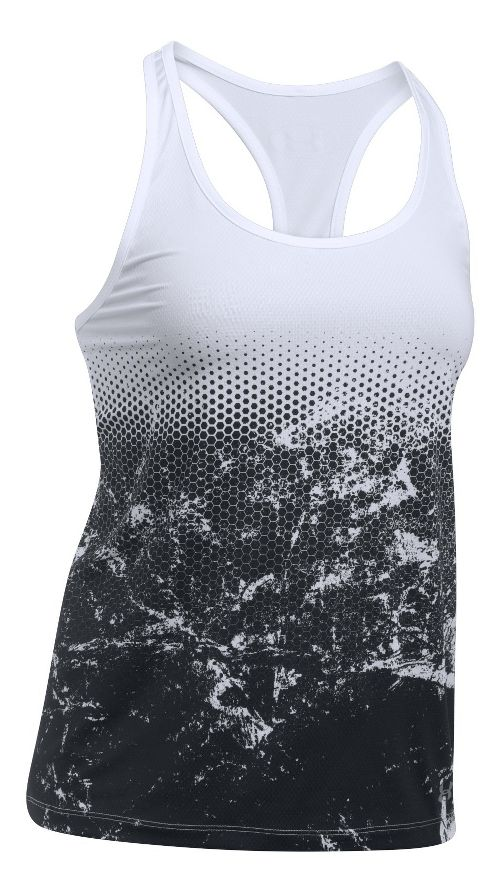 Womens Under Armour Hex Delta Racer Sleeveless & Tank Tops Technical Tops - White M