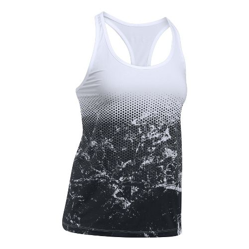 Womens Under Armour Hex Delta Racer Sleeveless & Tank Tops Technical Tops - White XL