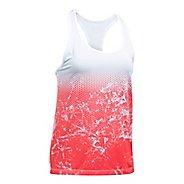 Womens Under Armour Hex Delta Racer Sleeveless & Tank Tops Technical Tops - White/Marathon Red S