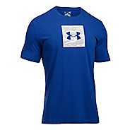 Mens Under Armour Camo Boxed Logo Short Sleeve Technical Tops