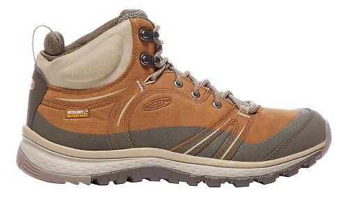 Womens Keen Terradora Leather Mid WP Hiking Shoe - Timber/Cornstalk 5.5