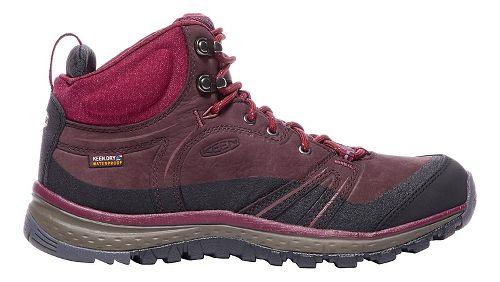 Womens Keen Terradora Leather Mid WP Hiking Shoe - Wine 7
