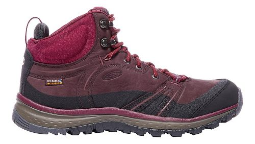 Womens Keen Terradora Leather Mid WP Hiking Shoe - Wine 7.5