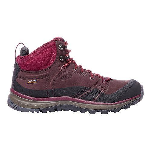 Womens Keen Terradora Leather Mid WP Hiking Shoe - Wine 10