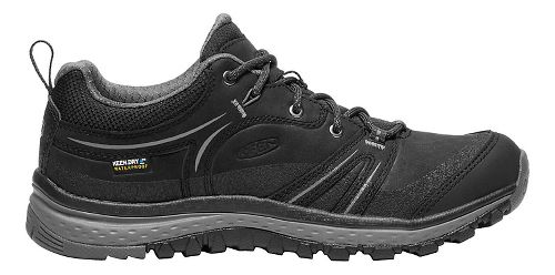 Womens Keen Terradora Leather WP Hiking Shoe - Black/Grey 8