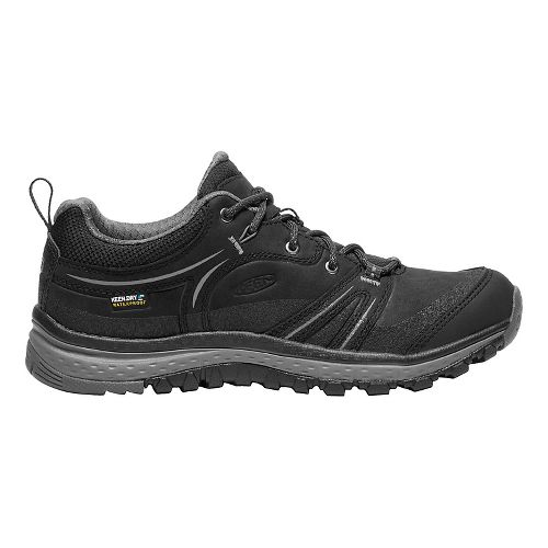 Womens Keen Terradora Leather WP Hiking Shoe - Black/Grey 8.5
