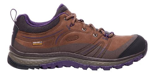 Womens Keen Terradora Leather WP Hiking Shoe - Scotch/Mulch 5