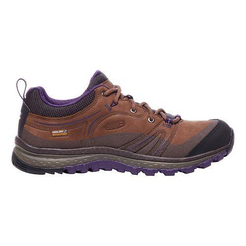 Womens Keen Terradora Leather WP Hiking Shoe - Scotch/Mulch 10