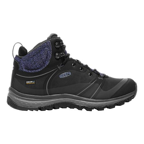 Womens Keen Terradora Pulse Mid WP Hiking Shoe - Black/Magnet 7.5
