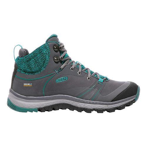 Womens Keen Terradora Pulse Mid WP Hiking Shoe - Magnet/Baltic 5.5