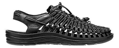 Womens Keen Uneek Leather Casual Shoe - Black/Raven 10