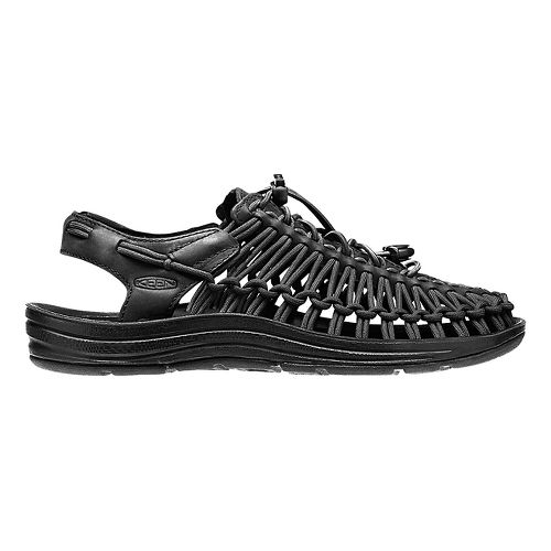 Womens Keen Uneek Leather Casual Shoe - Black/Raven 8