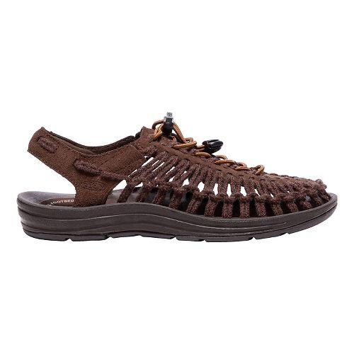 Womens Keen Uneek Leather Casual Shoe - French Roast/Tandori 7.5