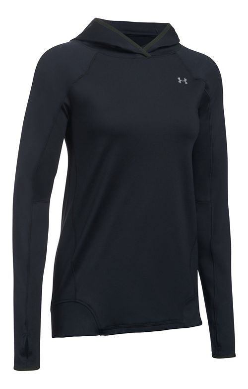 Womens Under Armour ColdGear PO Hoodie  Technical Tops - Black S