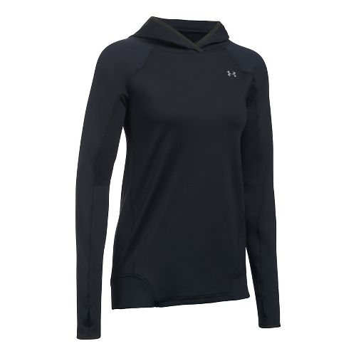 Womens Under Armour ColdGear PO Hoodie  Technical Tops - Black M