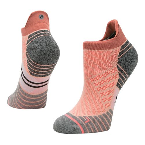 Womens Stance Run Valley Tab Socks - Peach S