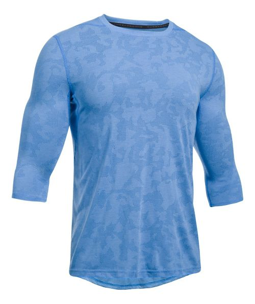 Mens Under Armour Threadborne Power Sleeve Fitted Tee Long Sleeve Technical Tops - Mako ...