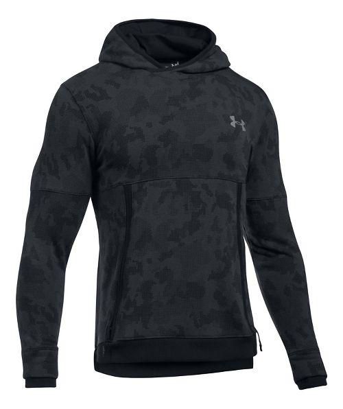 Mens Under Armour Threadborne Reflective Half-Zips & Hoodies Technical Tops - Black S