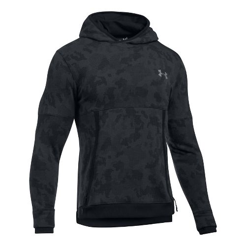 Mens Under Armour Threadborne Reflective Half-Zips & Hoodies Technical Tops - Black 3XL