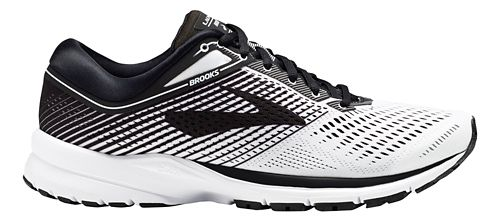 Mens Brooks Launch 5 Running Shoe - White/Black 9