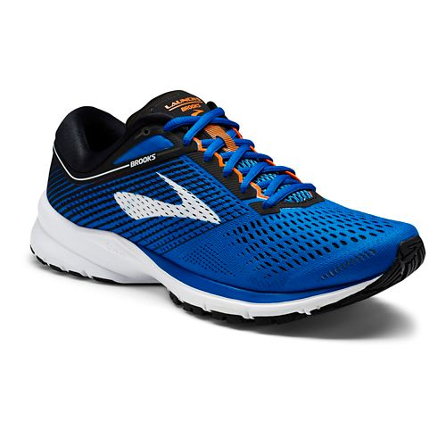 Mens Brooks Launch 5 Running Shoe - Blue/Black 9.5