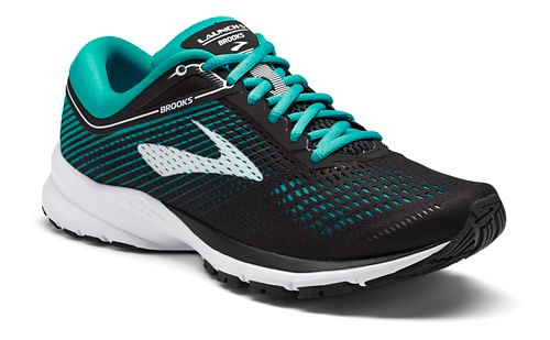 Womens Brooks Launch 5 Running Shoe - Black/Teal 10.5