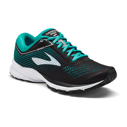Womens Brooks Launch 5 Running Shoe - Black/Teal 6.5