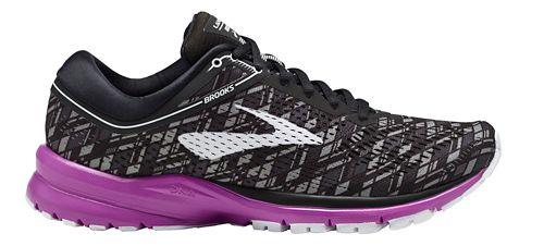 Womens Brooks Launch 5 Running Shoe - Black/Purple 6