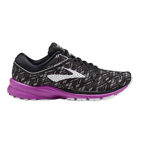 Womens Brooks Launch 5 Running Shoe - Black/Purple 10.5