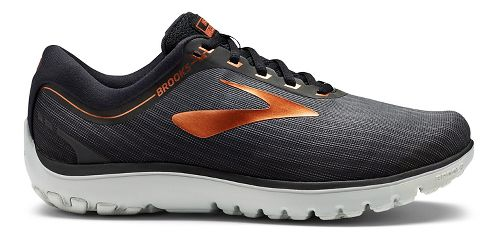 Mens Brooks PureFlow 7 Running Shoe - Black/Copper 11