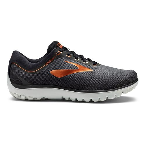 Mens Brooks PureFlow 7 Running Shoe - Black/Copper 12.5