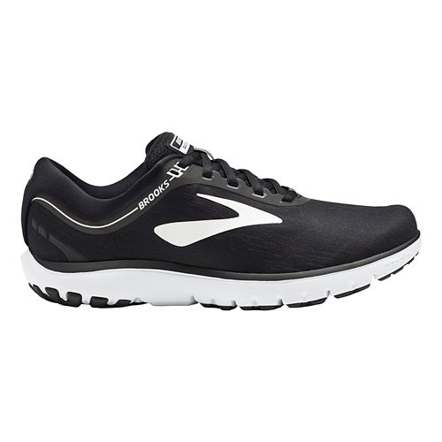 Womens Brooks PureFlow 7 Running Shoe - Black/White 7